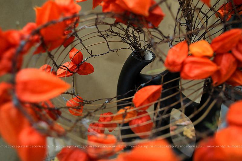 Московский репортаж, Москва, Аптекарский огород, Япония, икэбана, «Осеннее пространство»