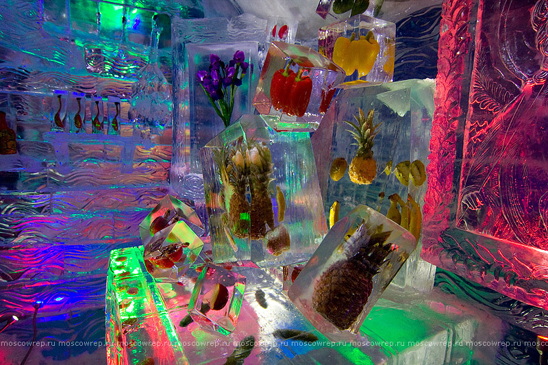 Москва, Московский репортаж, Пасха, парк Красная Пресня, праздник пасхального яйца, Галерея русской ледовой скульптуры