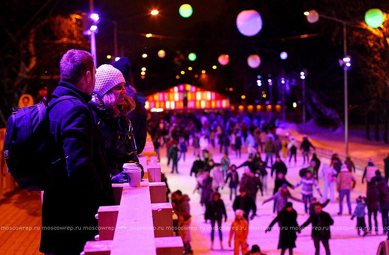 Московский репортаж, Москва, Парк Горького, Новый год