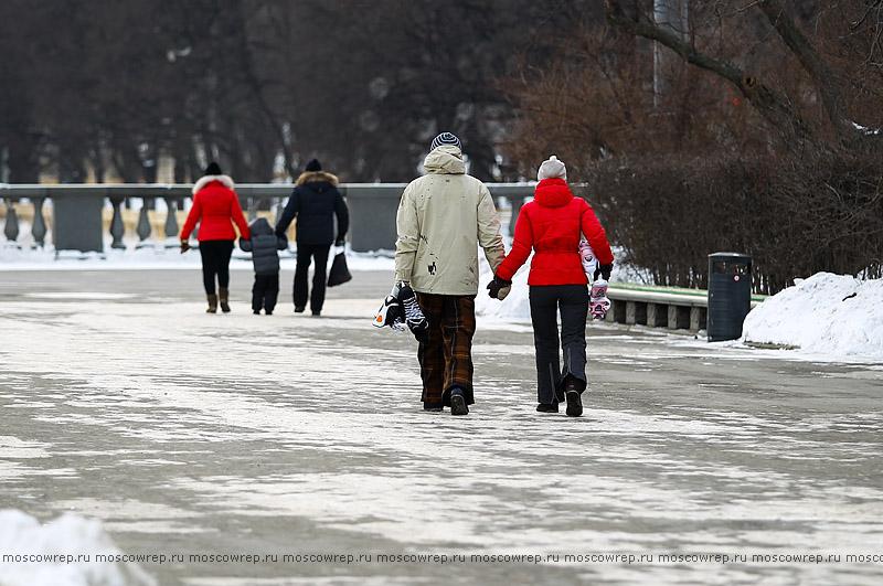Московский репортаж, Москва, Парк Горького, Ледяная горка, дети