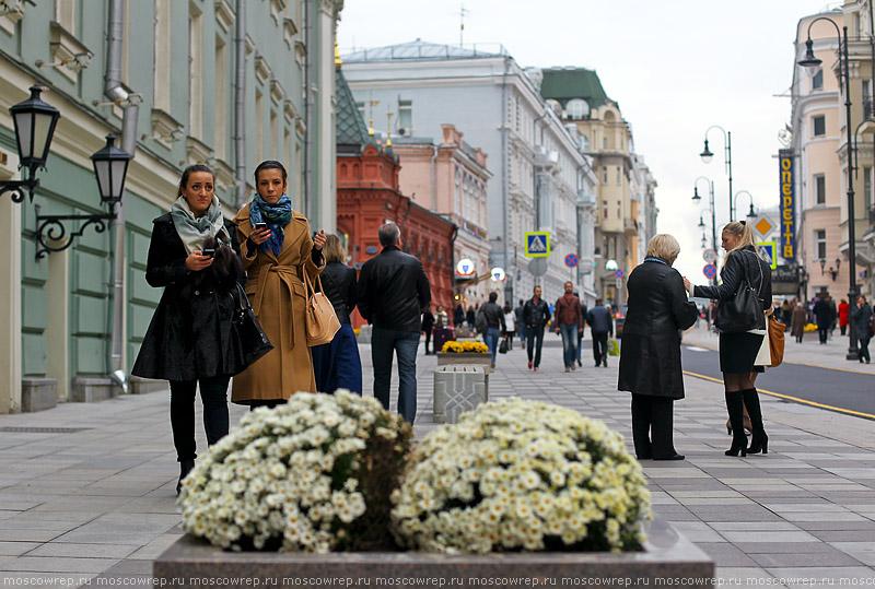 Московский репортаж, Москва, Большая Дмитровка, пешеходная зона
