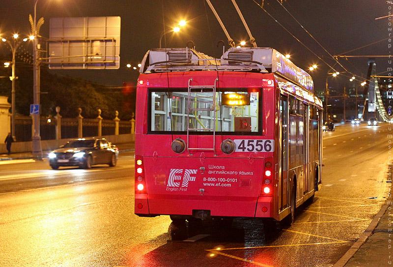 Московский репортаж, Москва, транспорт, ночной троллейбус