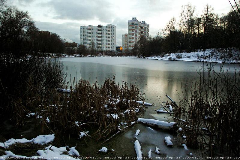 Москва, Московский репортаж, Богородское, Москва, зима, Казенный пруд