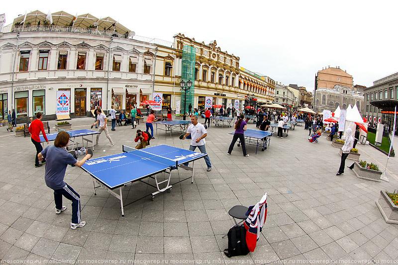 Московский репортаж, Москва, пинг-понг, открытый чемпионат по настольному теннису, настольный теннис, Кузнецкий мост