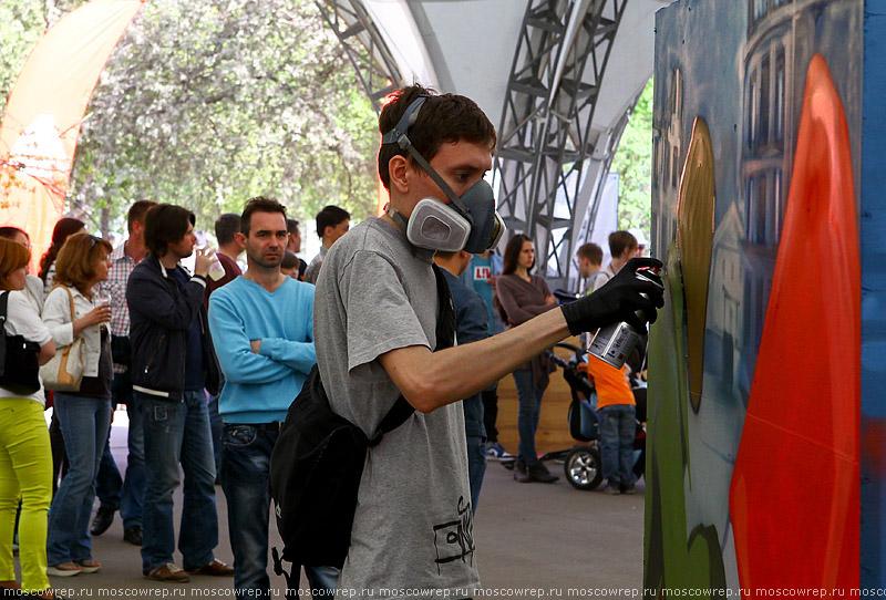 Московский репортаж, Москва, Сокольники, 9 мая, граффити, Георгиевская ленточка