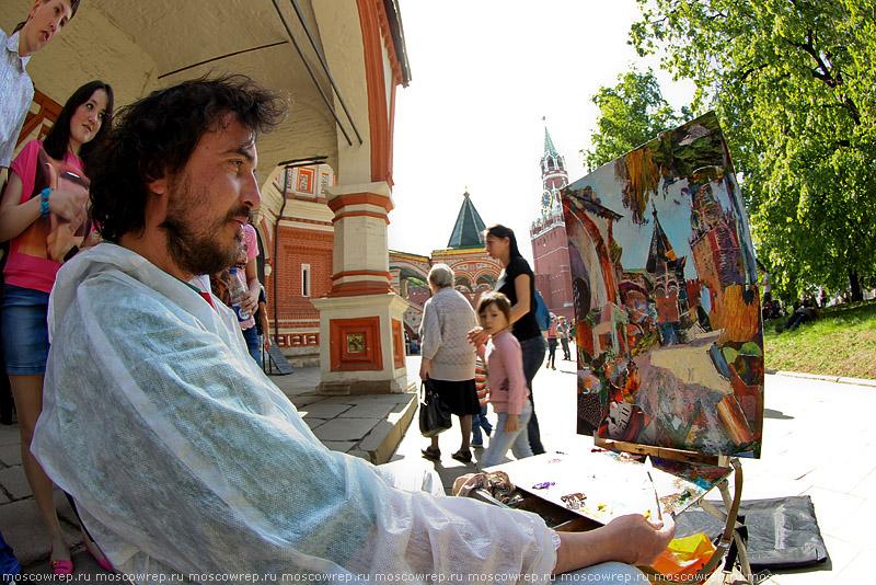 Московский репортаж, Москва, Храм Василия Блаженного, Покровский собор, Рисуем Покровский собор