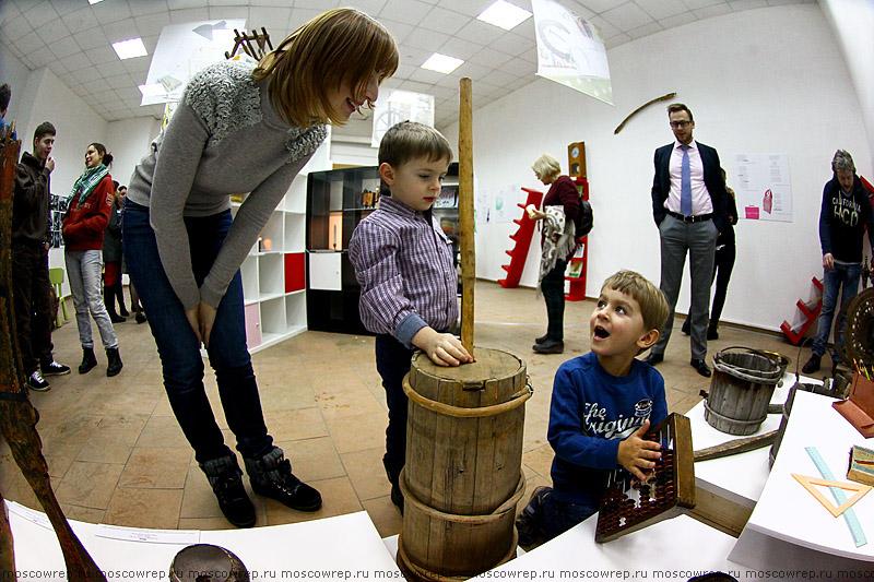 Московский репортаж, Москва, Музей Москвы, Коромысло, примус, прялка