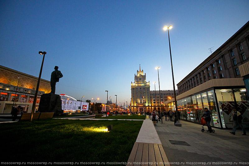 Московский репортаж, Москва, Москва пешеходная, пешеходные зоны, Триумфальная площадь