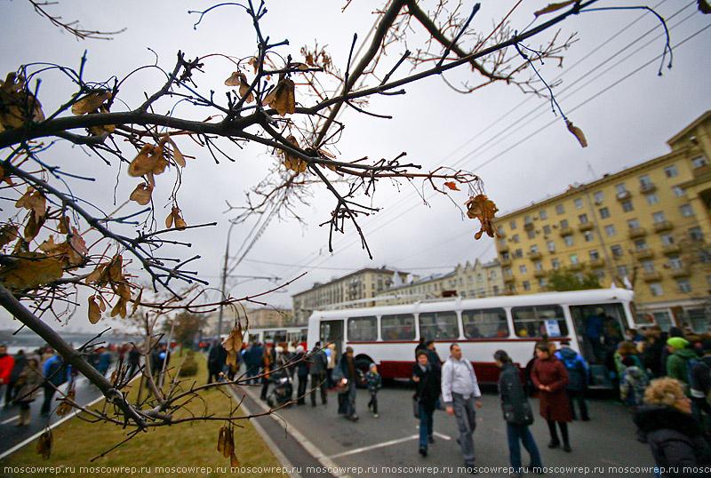 Москва, Московский репортаж, Мосгортранс, Праздник московского троллейбуса, парад троллейбусов, ретротроллейбус, троллейбус