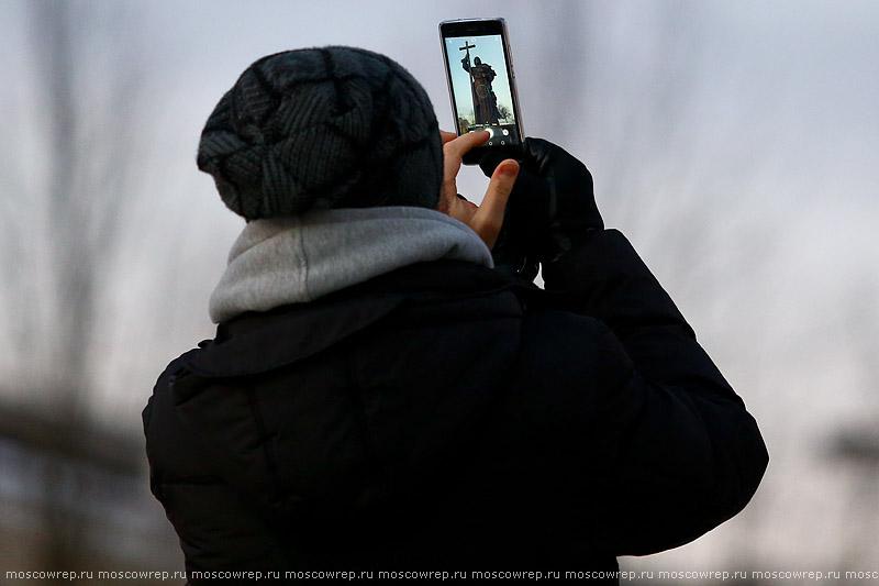 Московский репортаж, Москва, Православие, памятник князю Владимиру крестителю Руси
