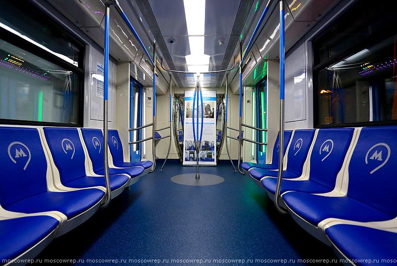 Московский репортаж, Москва, метро, Метровагонмаш, поезд метро Москва